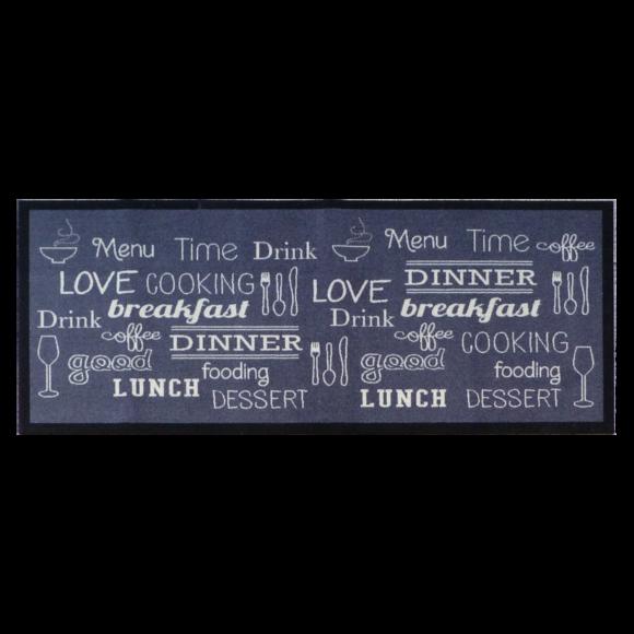 Tapis de cuisine antidérapant Breakfast/Lunch/dinner 50x120