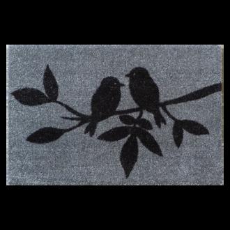 Tapis polyamide motif Mésanges 40x60cm