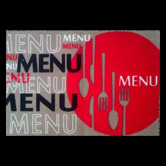 Tapis de cuisine antidérapant Menu 50x75cm