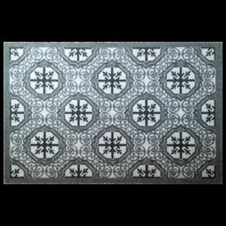 Tapis anti-poussière en polyamide gris ciment 50x75cm