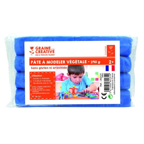 Pâte à modeler végétale 290 g bleu
