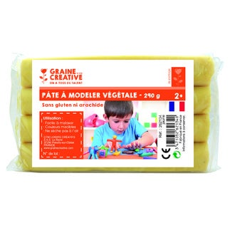 Pâte à modeler végétale jaune 290g