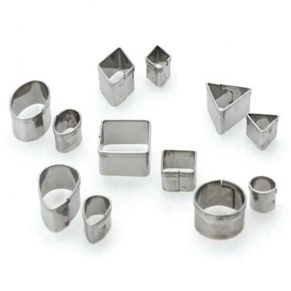 Set de 12 emporte-pièces géométriques 5mm à 20mm