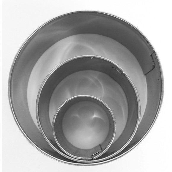 Achat en ligne Set de 3 emporte-pièces ronds en inox 20 mm, 30 mm, 40 mm