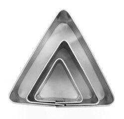 Achat en ligne Set 3 emporte-pièces triangles en inox Ø20mm Ø30mm et Ø40mm