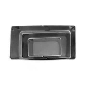 Set de 3 emporte-pièces rectangles en inox 20x10 mm, 30x15 mm et 40x20 mm