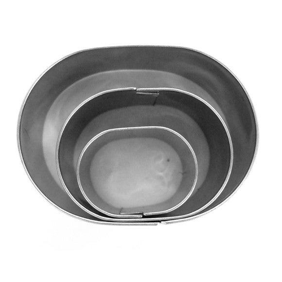 Set de 3 emporte-pièces ovales en inox