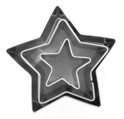 Achat en ligne Set de 3 emporte-pièces etoilés inox 15mm, 30mm et 40mm