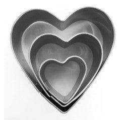 Achat en ligne Set de 3 emporte-pièces en inox Cœurs