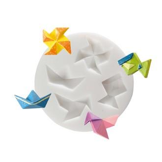 Moule flexible en silicone blanc Origami 70 mm