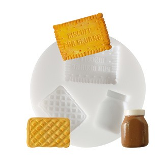 Moule flexible en silicone blanc Biscuits 70 mm