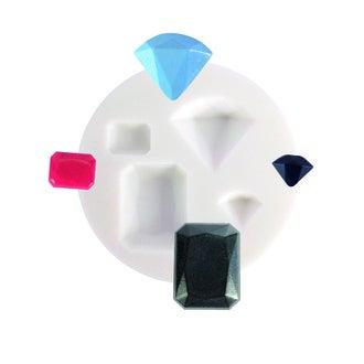 Moule flexible en silicone blanc Diamants 70 mm