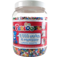 Achat en ligne Set 8000 perles à repasser 15 couleurs