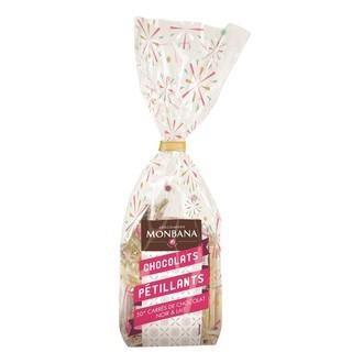 MONBANA - Sachet  50 napolitains assorti  mix chocolat lait et noir pétillant 200g