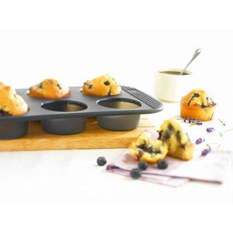Moule 9 mini muffins silicone noir