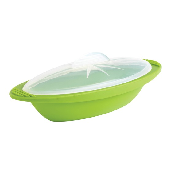 Papillotte minute silicone vert taille moyenne