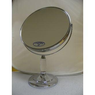 Miroir grossissant rond à poser double face X12 diamètre 17,5cm