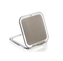 Achat en ligne Miroir de sac grossissant carré double face X5 8,5x5,5cm