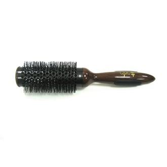 Brosse de brushing ronde en céramique acajou diamètre 5,5cm