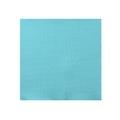 50 serviettes 20x20cm en papier celi ouate uni turquoise