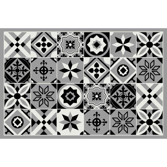 Tapis Carreaux De Ciment 90x60cm Assortis