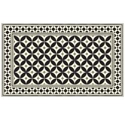 Tapis vinyle Arles noir 116x68 cm