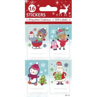 Étiquettes pour cadeaux de Noël 12x7,6cm