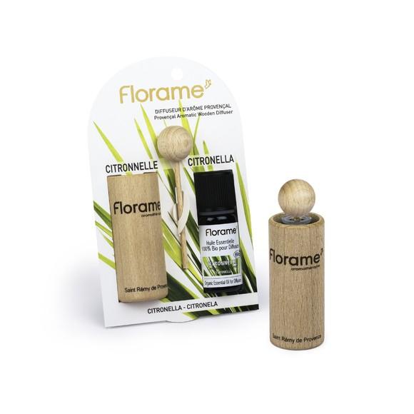 Achat en ligne Diffuseur bois huile essentielle biologique citronelle 10ml