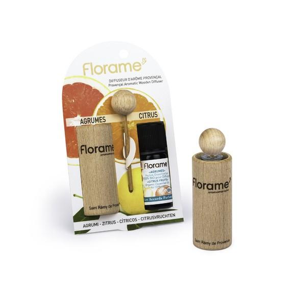 Achat en ligne Diffuseur bois avec huile essentielle biologique agrumes10ml