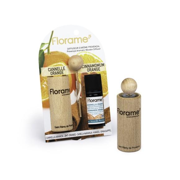 Diffuseur bois huile essentielle bio cannelle orange 10ml
