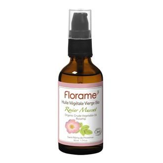 FLORAME - Huile végétale bio Rose musquée - 50ml