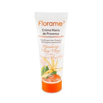 FLORAME - Crème pour les mains bio à la mandarine et ylang - 50ml