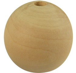 compra en línea Pack de de 50 cuentas de madera natural (Ø15 mm)