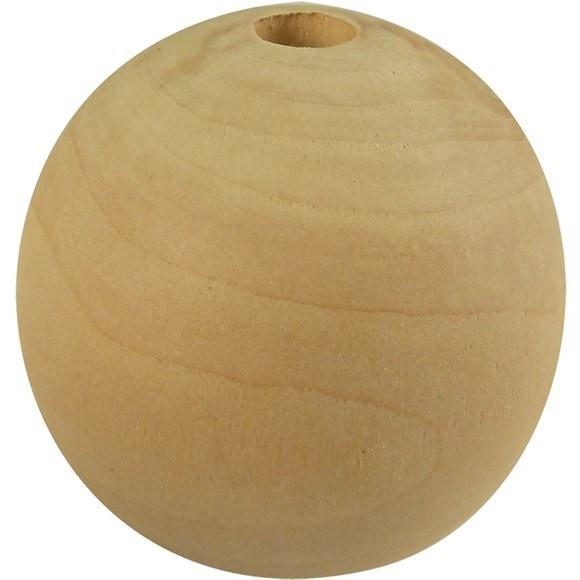 Set de 50 perles de bois d'érable Ø20 mm