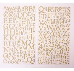 Achat en ligne Alphabet adhésif avec paillettes or