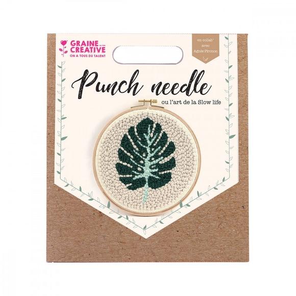 Achat en ligne Kit punch needle feuille monstera