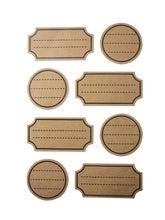 Achat en ligne Set de 32 stickers étiquettes imprimées en kraft
