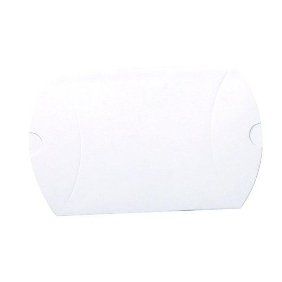 Achat en ligne Set de 6 boites berlingots blanche 7,7x12,3cm