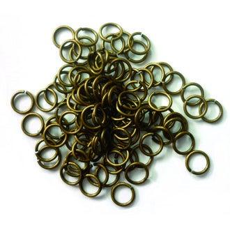 Set de 100 anneaux bronze 0,6cm