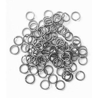 Set de 100 anneaux argent 0,6cm