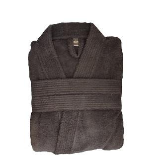 4a609473049ac4 ZODIO - Peignoir en coton éponge zinc Taille XXL