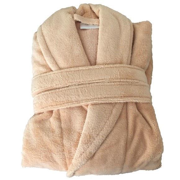compra en línea Albornoz de mujer con cuello chal naranja pastel talla M