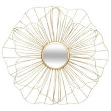 Achat en ligne Miroir Fleur en métal or 56 cm