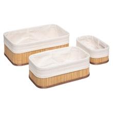 Achat en ligne 3 paniers rangement bambou naturel