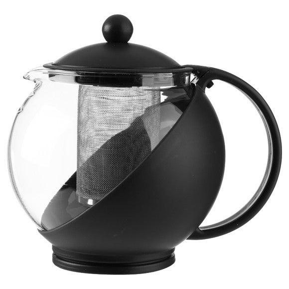 Théière en verre et filtre inox rouge 1,25L