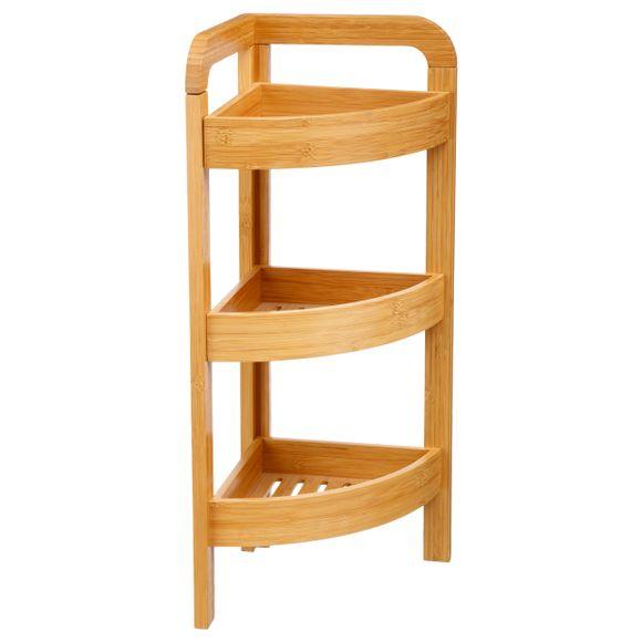 Etag re de salle de bain d 39 angle 3 paniers en bambou pas cher z dio - Etagere d angle salle de bain ...
