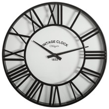 Achat en ligne Horloge vintage clock noir 35cm
