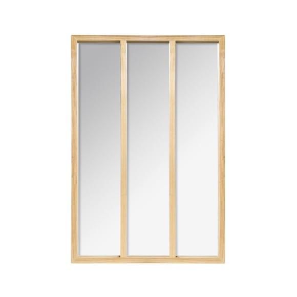 Miroir atelier bois 76x116cm