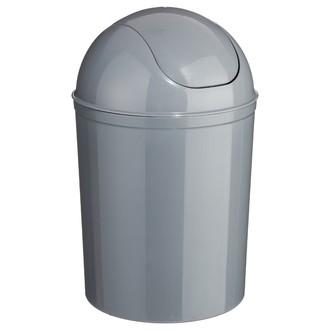 Poubelle 7L plastique grise