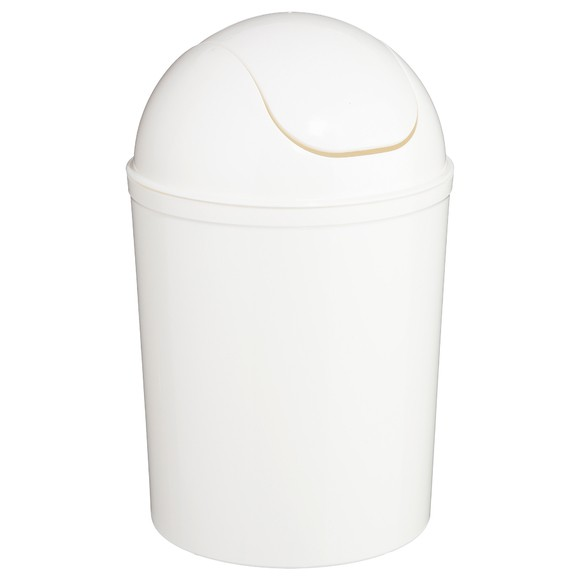 Poubelle 7L plastique blanche